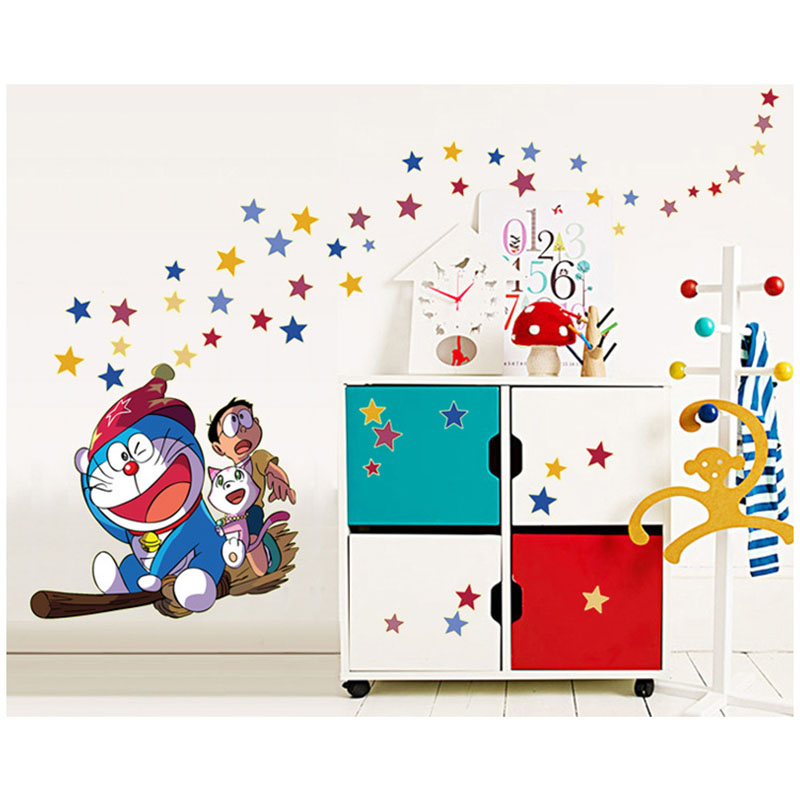 Cartoon Animal Luminous 3D DIY Vinly Wall Sticker For Kids Baby Rooms Poster Stars Glow In The Dark Stars Jingle Cat Wall Decals(China (Mainland))