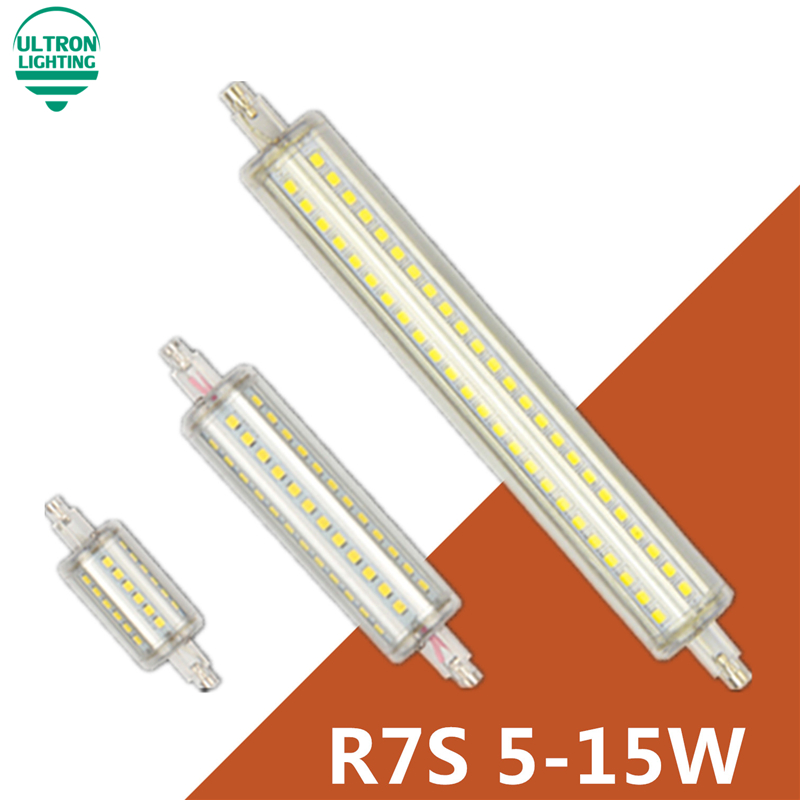 Dimmable r7s led 10W 118mm 360 degree 5W 78mm lampadas led r7s bulb 12W 135mm 15W 189mm replace halogen lamp lamp 25mm diameter(China (Mainland))