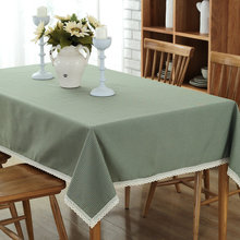Buy Kalameng Cotton Table Cloth Green Plaid Style Print Multifunctional Kitchen Tablecloths Coffee Tea Table Cover Lace Edge for $7.67 in AliExpress store