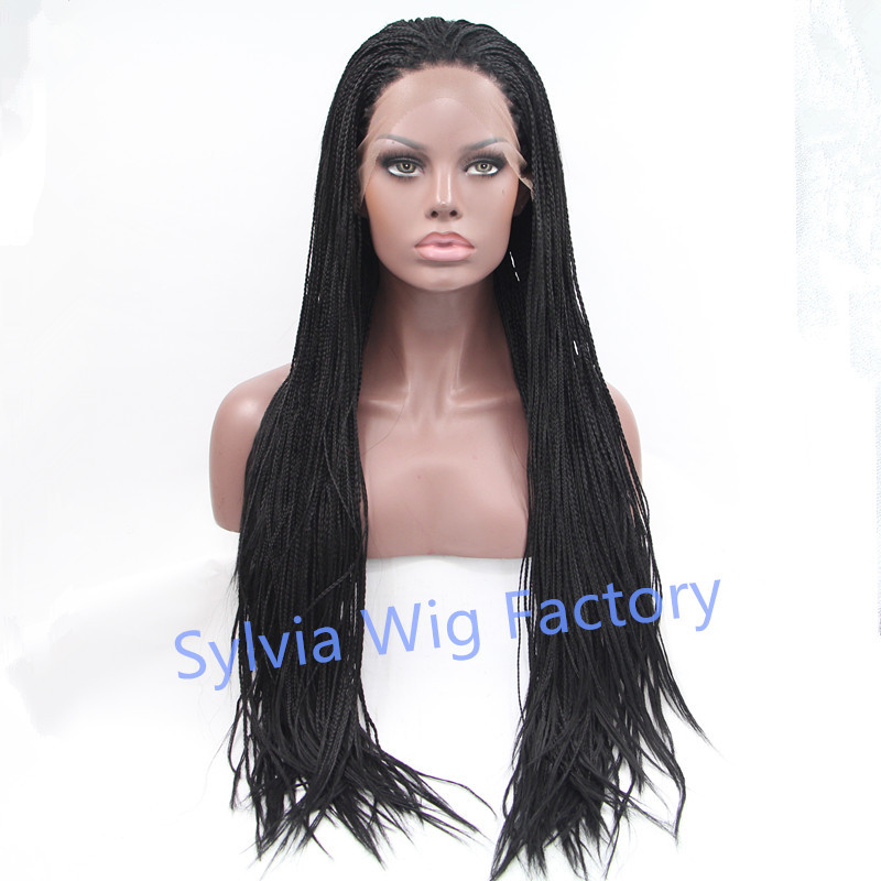 new arrival african american synthetic braided lace wig premium synthetic lace front wig heat resistant fiber<br><br>Aliexpress