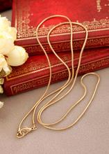 18KG Plated Fashion Gold Plated Chain Women's Necklace Long Design Necklaces N567(China (Mainland))