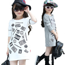 Girls Tops Lolita-Style Long-Sleeved T-Shirts For Girls O-Neck Print Tees Children T Shirts  Long Inside Out kids Shirts Girl