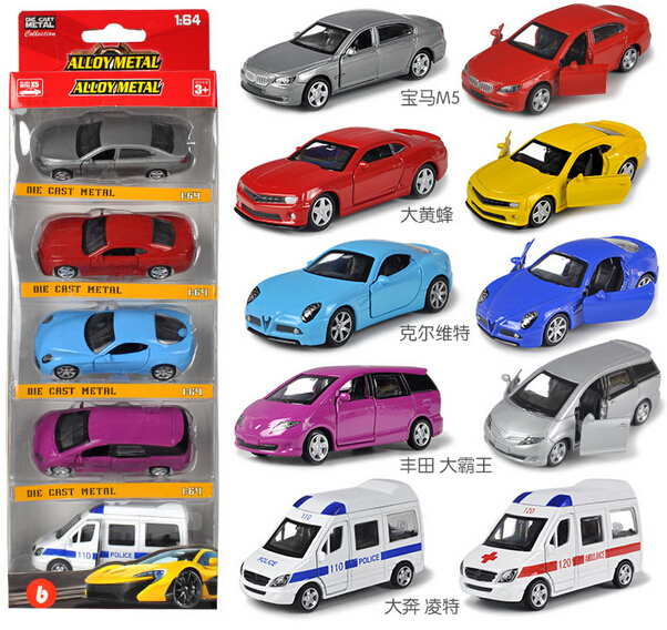 5pcs/set Sports car SUV bus helicopter 1:64 alloy Diecast pull back model Simulation Electric Simulation kids toys(beibei038)(China (Mainland))