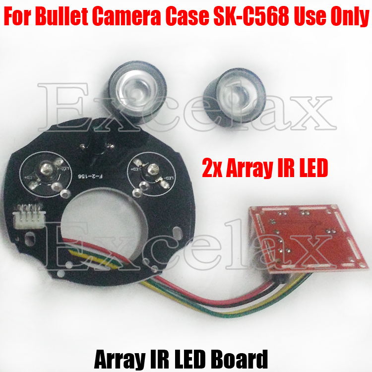 DIY 2PCS 42mil Array LED IR 20-50M PCB Board Size 90 Infrared Night Vision 850nm for CCTV Security Waterproof Bullet Camera Case(China (Mainland))