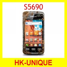 S5690 Original Unlocked Samsung S5690 cell phones WIFI GPS 3.15MP Camera Cheap android Smartphone refurbished free shipping