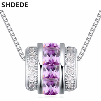 High Quality Necklace Pendants White Gold Plated Fashion Brand CZ Diamond Jewelry For Women +21630