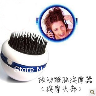 Best selling ! Mini vibrating refreshing comb device octopus anti-hair loss Electric Head Massager 2pcs/lot Free shipping