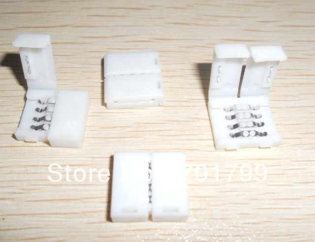 strip conector,10mm for RGB color 5050 SMD led strip;no need soldering