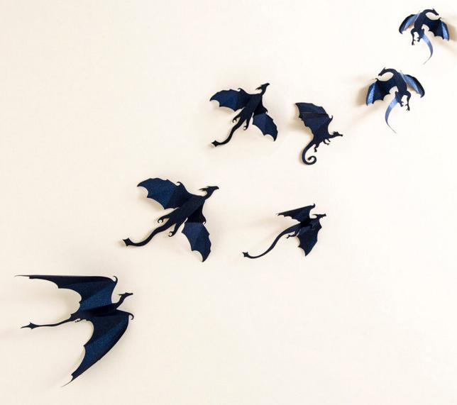 Гаджет  Funlife 7pcs Game of Thrones inspired 3D Dragon Wall Art, dragon silhouettes, halloween fantasy decor dinosaurs, boys rooms None Дом и Сад