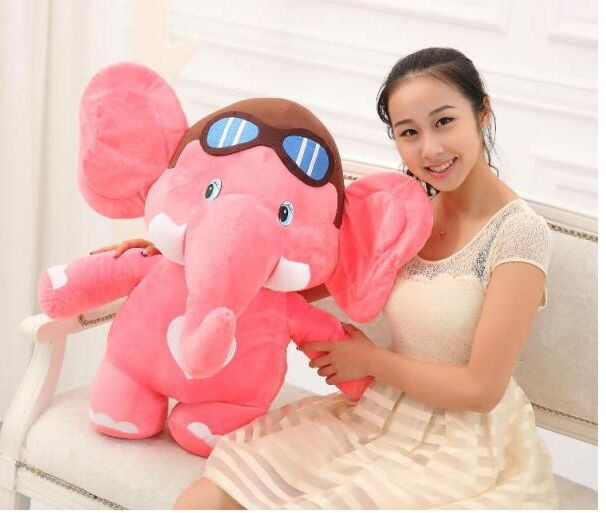big size pink plush  elephant toy cute cartoon flying elephant doll gift about 75cm<br><br>Aliexpress