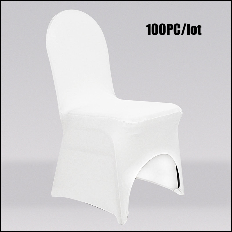 100pc/ Lot iron-free chair covers 100% Polyester Universal Spandex Wedding Party Chair Covers for Hotel Chair Covering(China (Mainland))