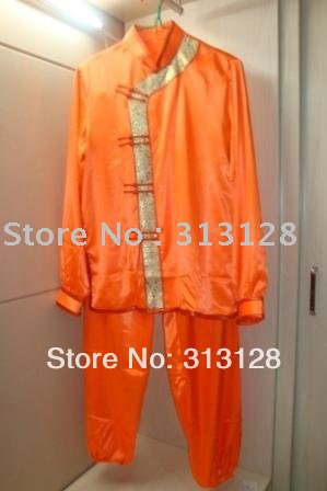 free shipping Chinese orange ladies wushu uniform(China (Mainland))