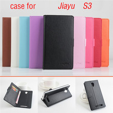 Litchi Texture Original Brand Jiayu S3 Case High Quality Flip Leather Case Wallet Cover for Jiayu S3 Phone Case With Card Holder