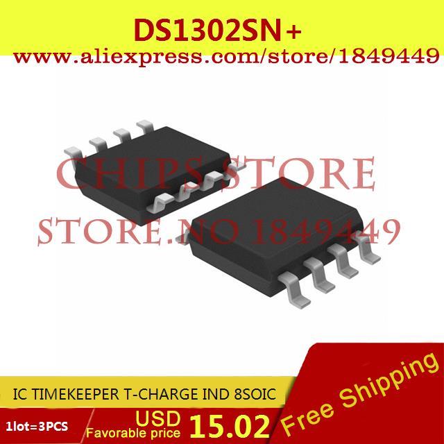 Бесплатная Доставка Diy Kit DS1302SN IC ХРОНОМЕТРИСТ T-CHARGE IND 8 SOIC 1302 DS1302 1302 S 3 ШТ. max6225aesa t 8 soic