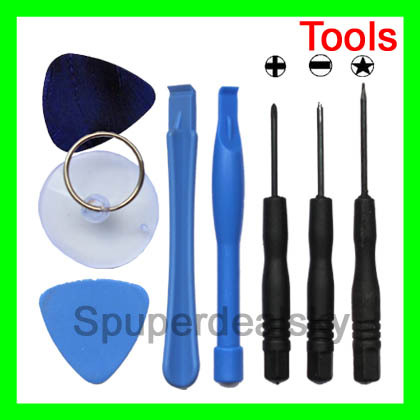 8 in 1 REPAIR PRY KIT OPENING TOOLS With 5 Point Star Pentalobe Torx Screwdriver For APPLE IPHONE iphone4 5C 4S 5 iphone 4 4G(China (Mainland))