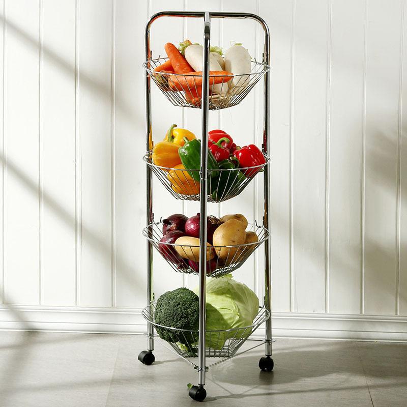 Kitchen Vegetable Storage Baskets: European Style Garden Kitchen Vegetable Storage Car Racks