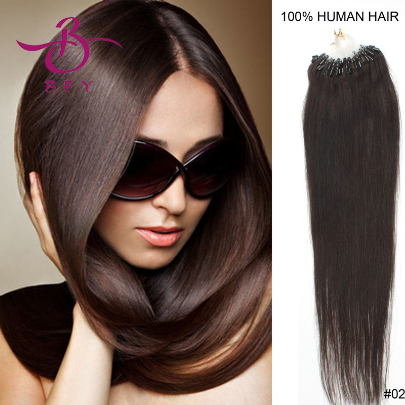 100strands 16 micro beads/links remy hair extension 0.4g #2 dark brown<br><br>Aliexpress