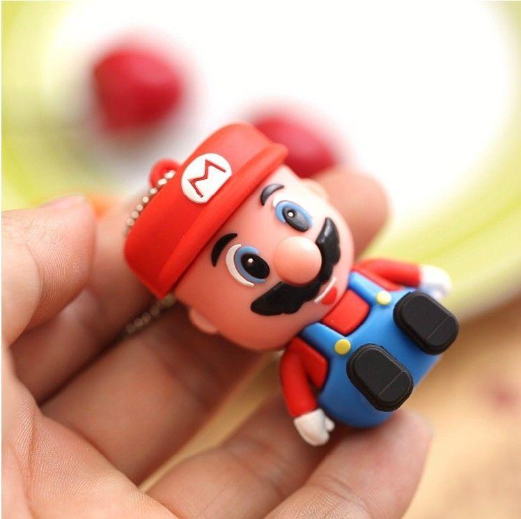 100% Real 4GB 8GB 16GB 32GB memory stick pendrive Cartoon Figure Mario model 2.0 USB FLASH DRIVE 2.0(China (Mainland))