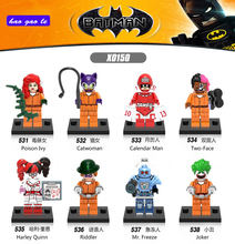 Buy 8pcs/lot X0150 Super Heroes Joker Poison Catwoman Calender Man Two-Face Harley Quinn Riddler Mr Freeze Building Blocks Toys for $7.58 in AliExpress store