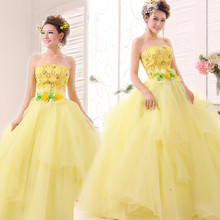 Moderator dress costumes female solo ball gown banquet dress engagement evening gown evening dress Princess long section(China (Mainland))