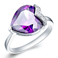50 Off Purple Amethyst Red Ruby Gem 925 Sterling Silver Jewelry Wedding Finger Ring For Women