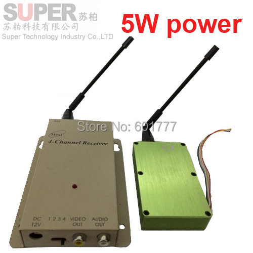 5W NEW 1.2G transceiver,1.2G Video Audio Transmitter Receiver,cctv camera transmitter 1.2G CCTV transmitter av transmitter(China (Mainland))
