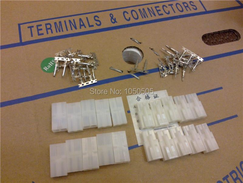DHL Free shipping 500 sets Small Tamiya connector Set mini Tamiya set EL 4.5MM male & Female with pins (2PIN)(China (Mainland))