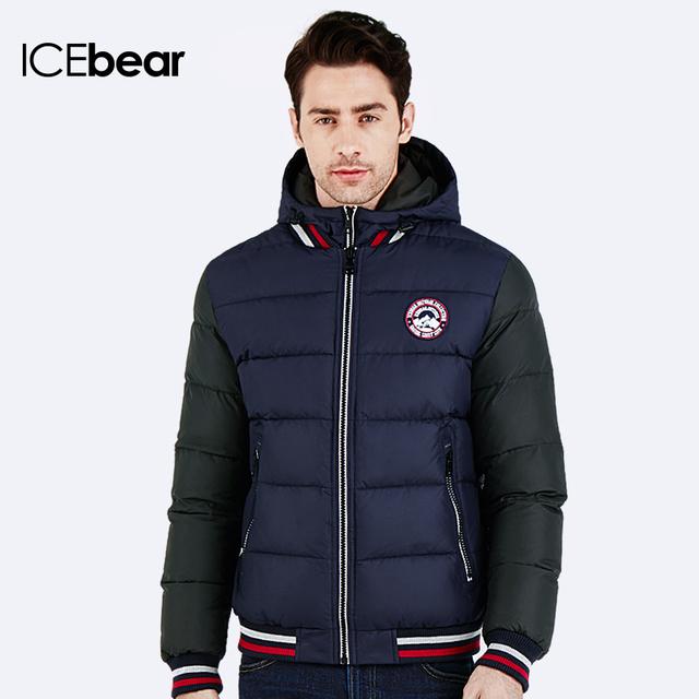 ICEbear 2016 Зимний удобный пуховик Куртка съёмным утеплителем Модная молодежная парка Манжеты на рукаве трикотажные Теплая куртка 16MD872