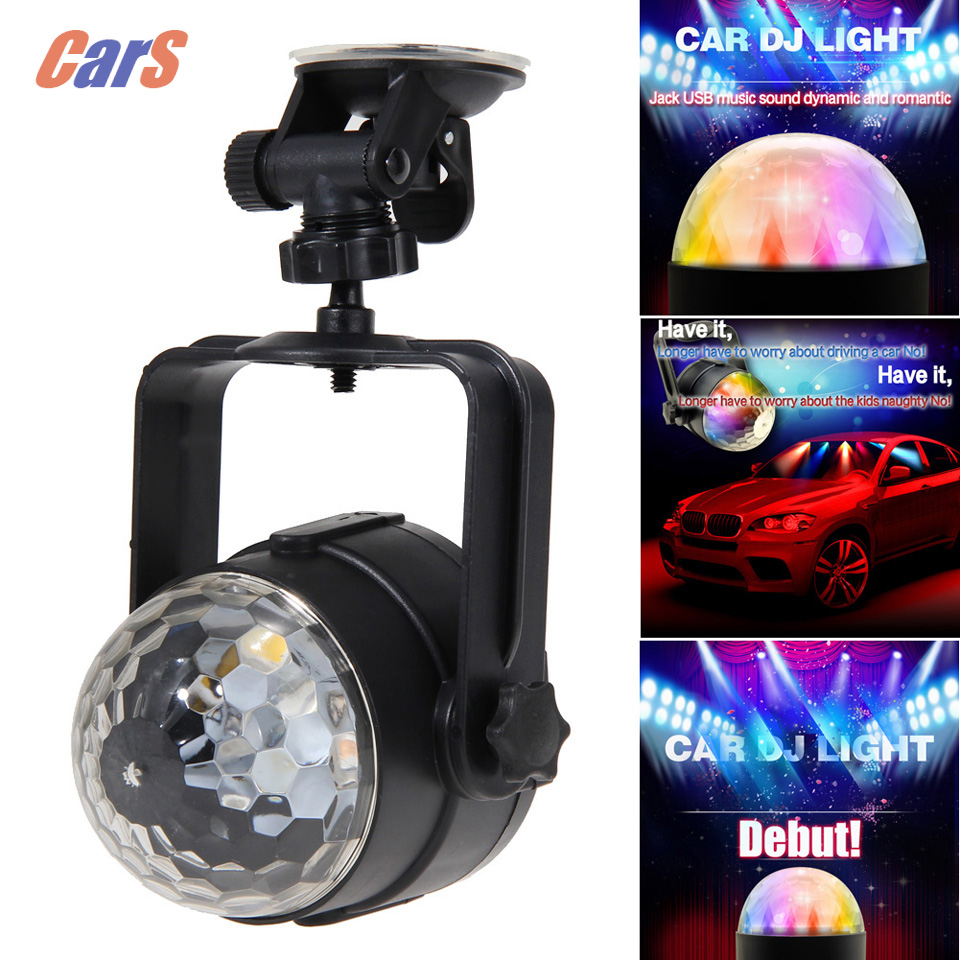 BESTCar Music DJ light Car Dome Light Neon Ball Lightning Auto Rhythm Sound Music Senor DJ Flashing RGB(China (Mainland))