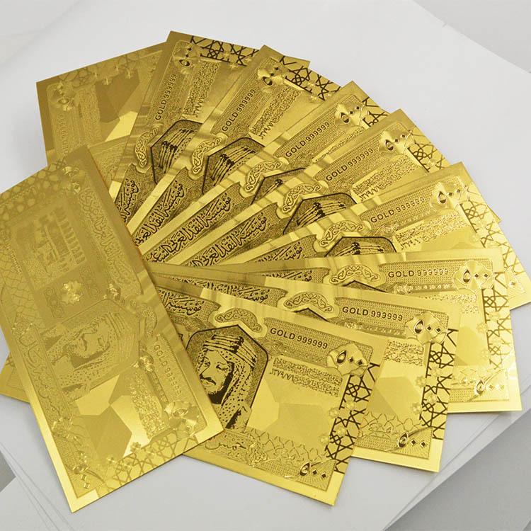 Wholesale-Saudi-Arabia-24k-Gold-Foil-Banknote-Saudi-Riyal ...