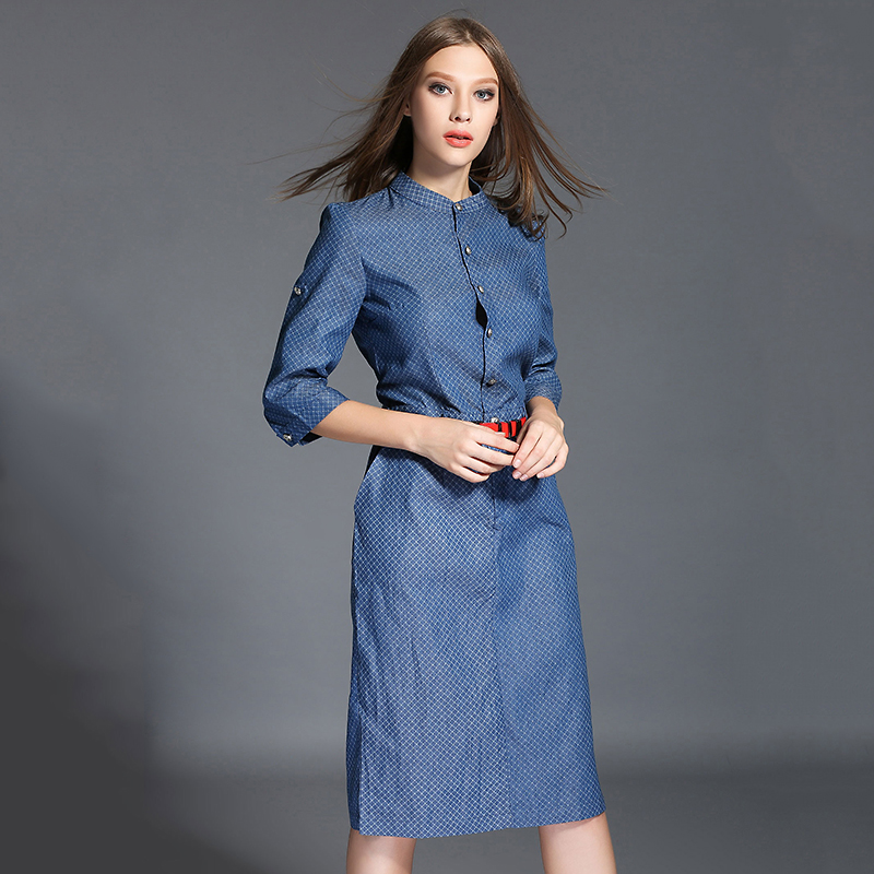 Brilliant  Jeans Dress For Women Vneck Big Size Dresses Online Shop Clothing