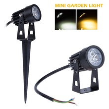 12V Mini Led Lawn Light 3*3W 9W White / Warm White Outdoor Waterproof Landscape Lawn Lamp For Garden Park Decoration Lighting(China (Mainland))