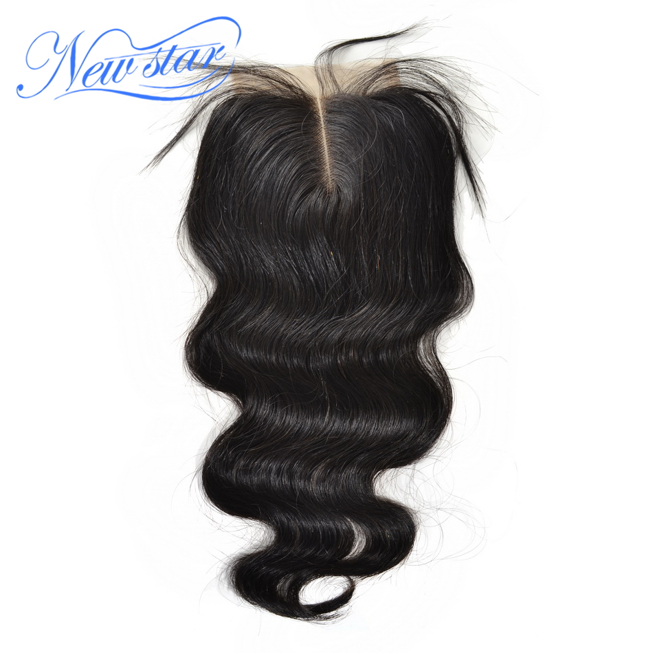 alibaba new star brazilian virgin human hair lace closure middle part body wave 10-20inch 4*4 inches lace size DHL free shipping(China (Mainland))