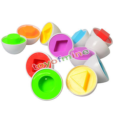 6Pc Plastic Eggs Shape Pairing Puzzle Toys Children Toddler Educational Toy(China (Mainland))