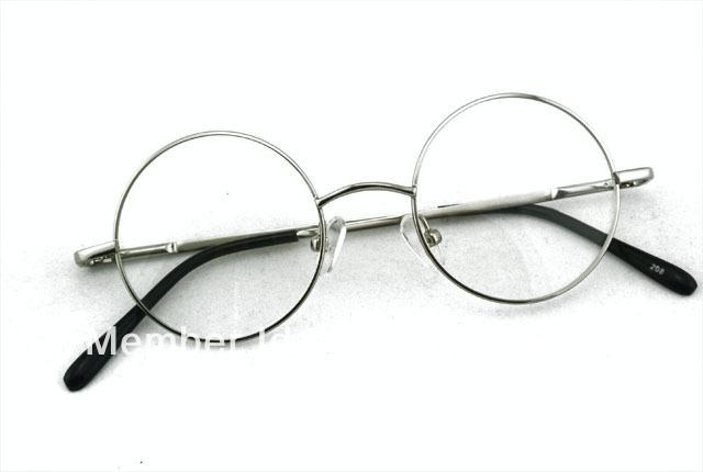 Eyeglass Frames For Heavy Prescriptions : 42mm VINTAGE ROUND EYEGLASS FRAMES FULL RIM Silver EYE ...