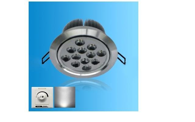 Dimmable led ceiling light;with triac dimmer;12*1W;Bridgelux Chip;CCT:2800K,4500K,6500K