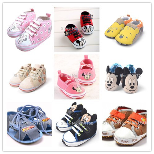 Cute Baby Shoes Infant First Walkers Toddler Shoes Baby Girls Boys Soft Bottom Cartoon Prewalker Spring
