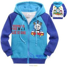 Baby Boys Girls Jacket Spring Clothes Kids Outerwear Coat Thick Clothes Children Clothing With Hood Thomas and Friends MS0741(China (Mainland))