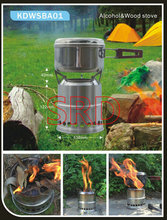 New design hot sell  portable stainless steel   Light Weight, Durable and Compact Cooking Stove