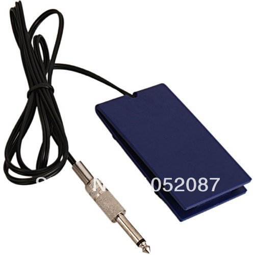 Hot Selling Blue Foot Tattoo Foot Switch Pedal for Tattoo Machine Gun Power Supply Foot Pedal Free Shipping(China (Mainland))