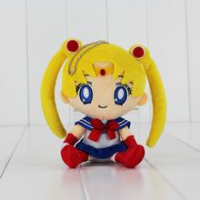 15cm Cartoon Anime Sailor moon Plush Toys Cute Tsukino Usagi Soft Toys Gift For Girl(China (Mainland))