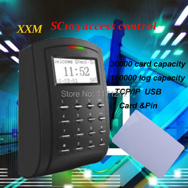 Free shipping IC card access control promixity card reader stanalone access control with TCP/IP USB to connect free software(China (Mainland))