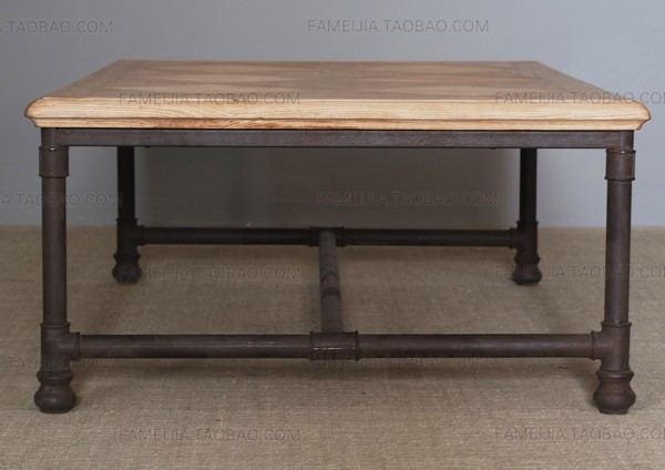 American Retro Furniture Wrought Iron Coffee Table To Do The Old Wood Vintage Wood Living