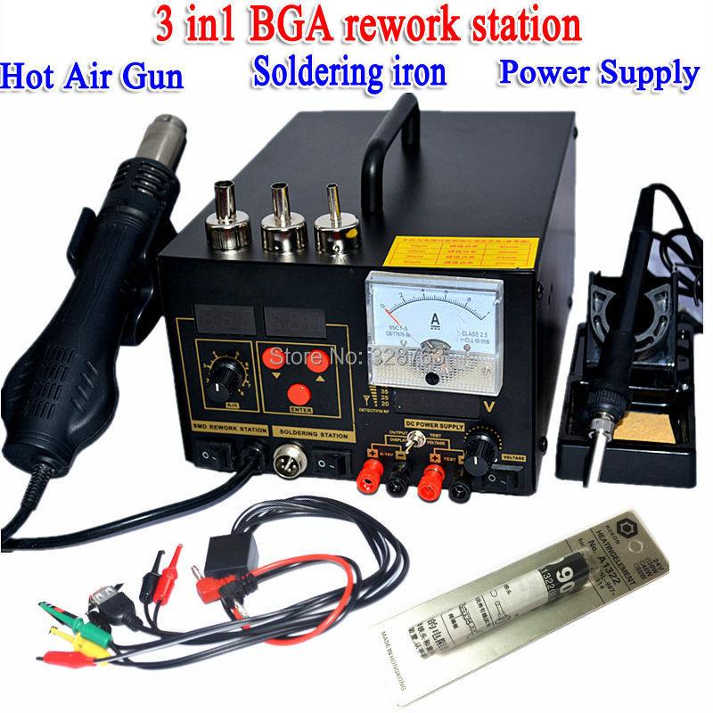 bga rework station soldering iron power supply hot air gun 220v 3 in1 desold. Black Bedroom Furniture Sets. Home Design Ideas