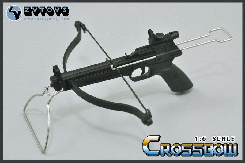"""In Stock 12"""" Action Figure Accessories ZYTOYS 1:6 Scale Weapon Model 1/6 Black 10cm CrossBow Arrow Set Toys E(China (Mainland))"""