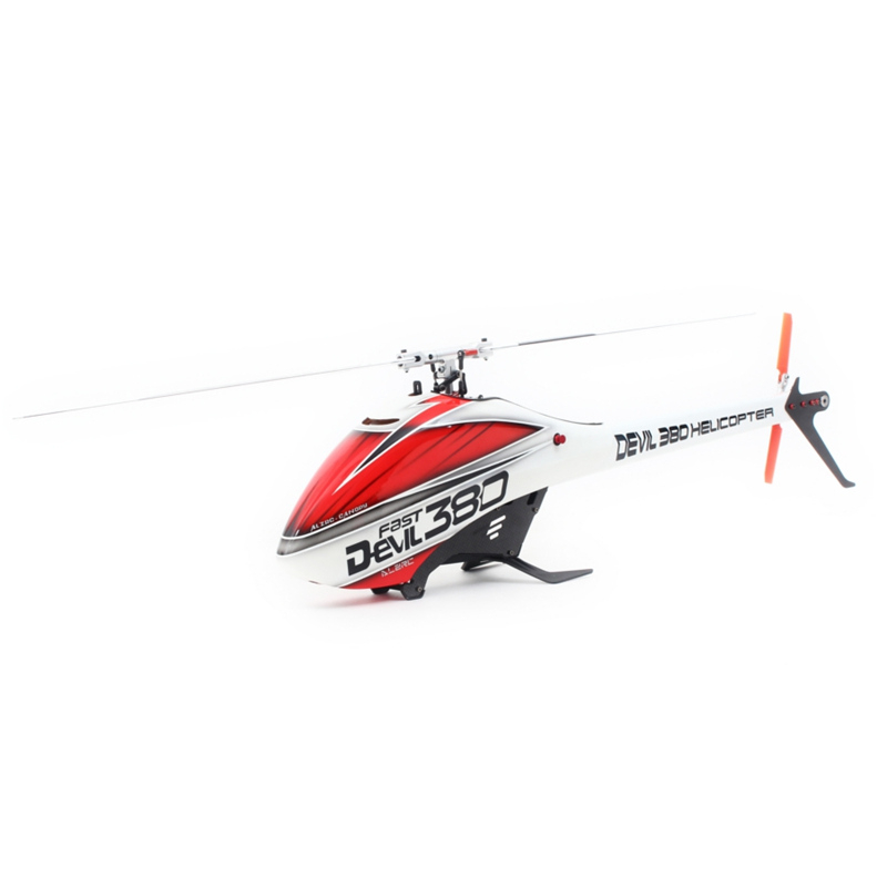 Hot ALZRC Devil 380 FAST RC Helicopter Kit Spirit Version Carbon Fiber Tail Boom With Flybarless Head Rotor Set 8mm Main Shaft(China (Mainland))