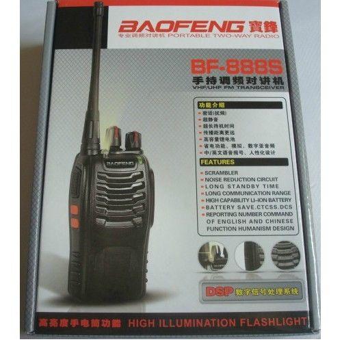 BaoFeng Digital BF-888S Two-Way Radios FM Transceiver Flashlight Walkie Talkies+earpiece+ RU stock(China (Mainland))
