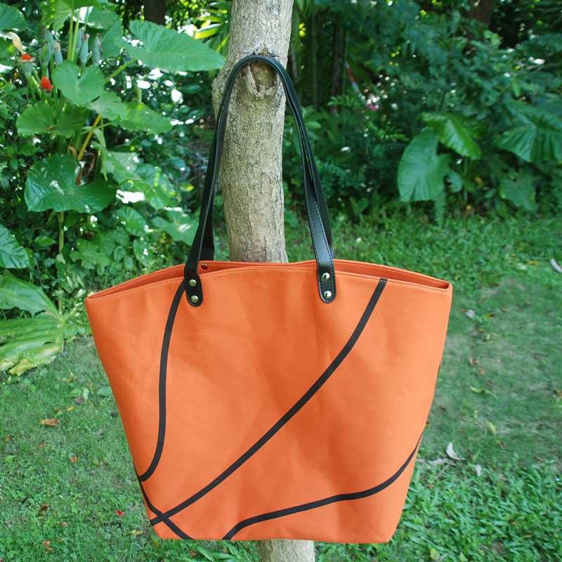 Wholesale Blanks Sports Bag Basketball Tote Bags Baseball Softball Football Soccer Bag with PU Faux Leather Handles DOM103295(China (Mainland))