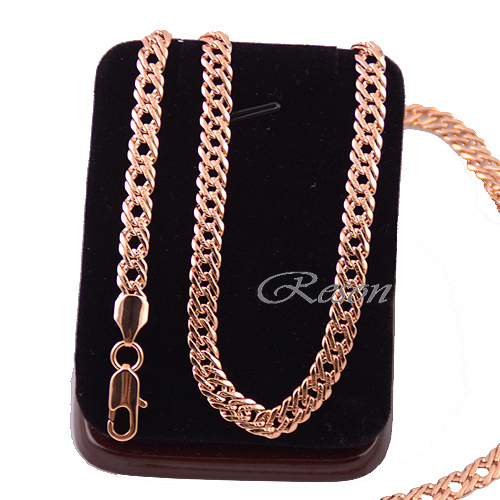 1pcs Mens Women Unisex Rose Gold Filled Link Necklace 20inch 24inch Chain E105(China (Mainland))