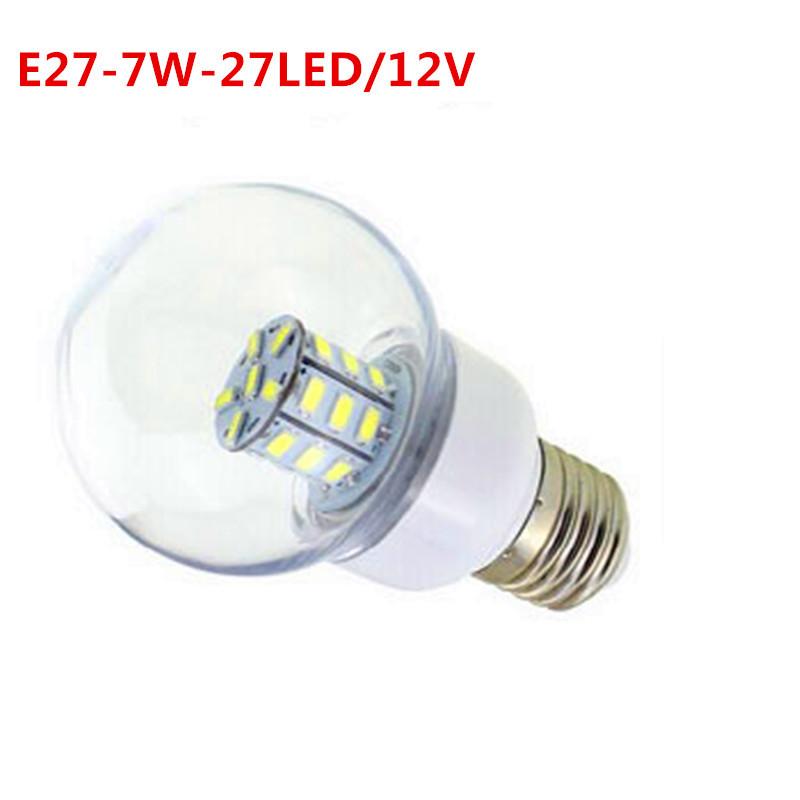 led 2015 Rushed Promotion Cree Bar 12v 5730 Ccc Bulbs E27 7W Led 27led - 5730 Smd Warm White Light Globe Bulb Lamp 12 V Zm00830(China (Mainland))